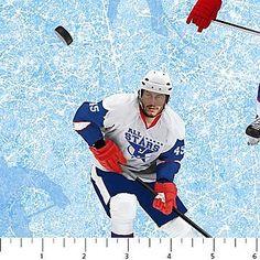 Power Play Sports Hockey~Hockey Players~Cotton Fabric by Northcott
