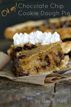 A vegan chocolate chip cookie dough pie
