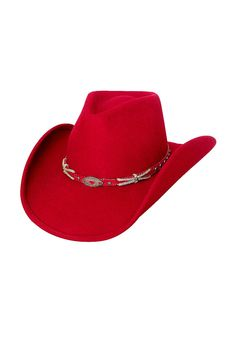 Sassy Cowgirl Hat In Red