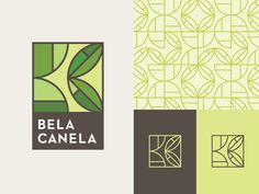 Hey all! Be sure to check out the attachment as well. Working on an identity for a company in Guatemala. Bela Canela will be a higher-end, health and well-being store with organic super foods, heal. food logo Dribbble - Bela Canela by Sean Heisler Food Company Logo, Logo Food, Logo Biologique, Inspiration Logo Design, Guatemala, Organic Logo, Leaf Logo, Green Logo, Geometric Logo