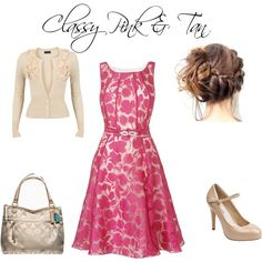 Classy Pink & Tan, created by daylashea96 on Polyvore