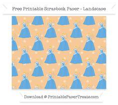Free Landscape Pastel Light Orange Star Large Cinderella Pattern Paper - Cinderella