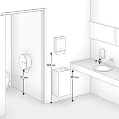 Interior Design Tools, Restaurant Interior Design, Bathroom Design Luxury, Bathroom Design Small, Ensuite Bathrooms, Bathroom Fixtures, Toilet Plan, Bathroom Layout Plans, Bathroom Dimensions