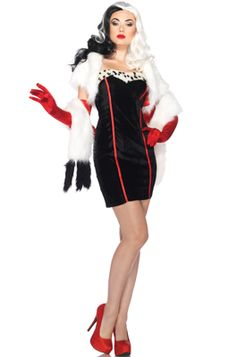 Disney Villains Cruella Adult Costume --//-- since they're h8ers and aren't offering this in plus size.. Wonder how difficult it would be to recreate..?!!