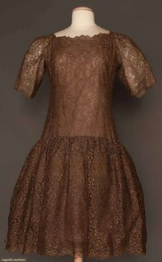 Augusta Auctions: dior couture party dress, fall 1960  #vintage #fashion