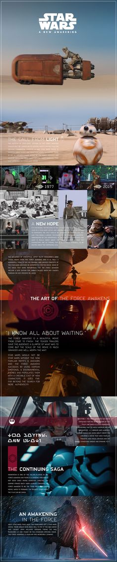 Star Wars 'The Force Awakens' Info Graphic/Visual Essay by Kristian Goddard