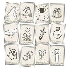 Dom2D   Symbol cards forMuseum of Parallel Art