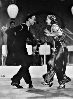 """""""Let Yourself Go"""" Fred Astaire and Ginger Rogers"""