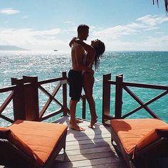 Imagem de couple, love, and summer
