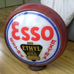 Esso Extra (Ethyl) gas pump globe