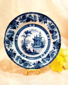 A personal favorite from my Etsy shop https://www.etsy.com/listing/221765264/antique-doulton-flow-blue-madras