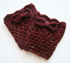 FREE SHIPPING Perfect Fall Crochet Boot Cuff Speckled by Tzigns