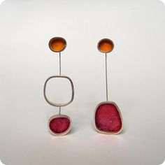 Silina Jewellery Designer - beautiful colours together and like the asymmetry.