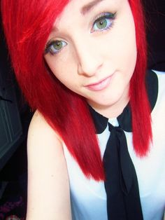 red emo hair - Google Search
