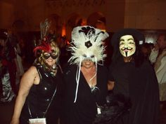 The Labyrinth Masquerade Ball, me in the middle with Himself.