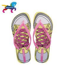 Hotmarzz Women Flip Flop Designer Summer Sandals Fashion Slippers Indoor Canvas Cartoon 2017 Beach Shoes Mule Home Slippers(China (Mainland))