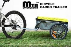 New Mtn Deluxe Heavy Duty Steel Bike Bicycle Cargo Book Trailer Carrier w Cover | eBay