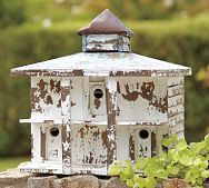 Weathered birdhouse..  one can never have enough birdhouses.. :)