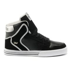 Discount Supra Skate Shoes Vaider Black Men Shoes High Tops