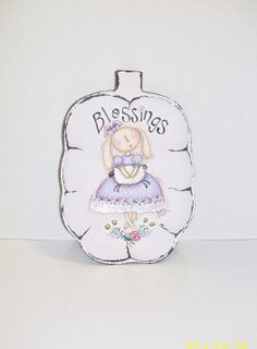Hand Painted Bunny Blessings Tray  Easter by ToletallyPainted, $18.50
