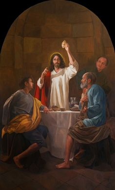 Supper at Emmaus / La Cena  en Emaús // By Raúl Berzosa // Jesus Christ breaking the bread