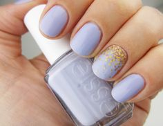 Lilac nails and a gold accent  | See more nail designs at http://www.nailsss.com/nail-styles-2014/2/