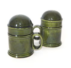 Vintage Barrel Style Salt & Peppers by Los Angeles Potteries $14