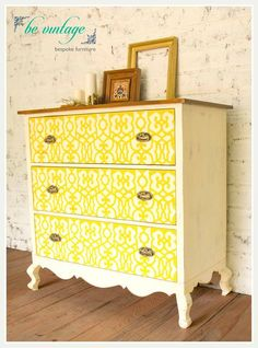 The gorgeous CHEST OF DRAWERS, with beautifully stencilled drawers, now in store! #sunshineboulevard #interiordesign #homedecor #decor #interiors #bangalore