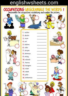 Jobs Esl Printable Unscramble the Words Worksheets For Kids #jobs #occupations #professions #jobsesl #jobsvocabulary #occupationsesl #occupationsvocabulary #eal #esl #printable #Unscramble #words #kids #forkids #Worksheet #handout #englishwsheets #classroom #learnenglish #teachenglish #vocabulary #English #vocab #eslvocabulary #eslpuzzle #unscramblewords #eslprintable #eslexercise
