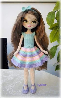 Crochet doll patterns - Salvabrani - Salvabrani - My WordPress Website Crochet Dolls Free Patterns, Crochet Doll Pattern, Doll Patterns, Crochet Doll Clothes, Knitted Dolls, Cute Crochet, Crochet Baby, Bag Pattern Free, Easy Crochet Projects