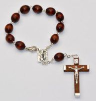 Catholic Gift Shop Ltd Lourdes Car Rosary - Wooden Single Decade Rosary Beads, Wooden Car Rosary - with Lourdes Prayer Card Catholic Store, Catholic Gifts, Wooden Car, Rosary Beads, Prayer Cards, Prayers, Beaded Bracelets, Pocket, Rings