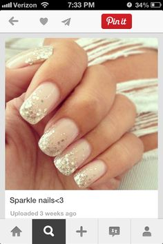 Simple nude sparkle.
