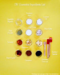 How to Make Your Own Cosmetics: The Ingredients