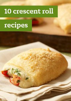 Savory Parmesan Bites—The fresh parsley and ripe red pepper in these warm and toasty Parmesan bundles dial up the flavor in every bite. Talk about a delicious appetizer recipe idea! I Love Food, Good Food, Yummy Food, Delicious Dishes, Tasty, Crescent Roll Recipes, Crescent Rolls, Great Recipes, Favorite Recipes