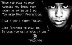 Golfist Tiger Woods for Trojan Condoms