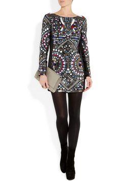 Antik Batik|Orelia embellished silk mini dress|NET-A-PORTER.COM