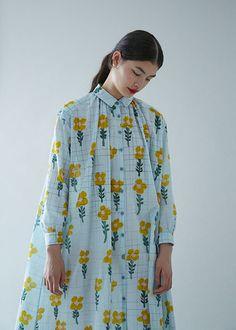 print dress by Mina Perhonen, Japan ミナ ペルホネン2016