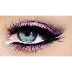white and black eyeliner mac-makeup-vintage-hair-and-pinup-clothing
