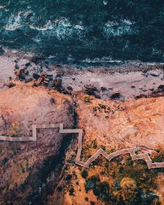 Hallett Cove, South Australia @safromabove | #ocean #sea #travel #wanderlust