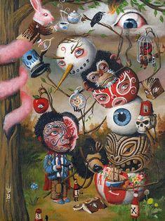 ARTIST OF THE DAY - MARK BROWN | PROTEUS MAG My Favorite Part, My Favorite Things, Mark Brown, Brown Art, Lowbrow Art, Pop Surrealism, Artist Names, Big Eyes, Dark Art