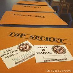 Library Spy Program: the prep work - Miss Meg's Storytime Secret Agent Party, Breakout Edu, Spy Kids, Spy Party, Library Programs, Programming For Kids, Last Day Of School, Class Projects, Story Time