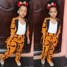 Items similar to African Print Kids Two Piece Set - Blazer and Pants- Ankara Print - Two Piece Outfit - Handmade - Africa Clothing - African Fashion on Etsy Baby African Clothes, African Dresses For Kids, African Children, African Fashion Dresses, African Outfits, African Attire, African Wear, African Girl, Ankara Styles For Kids
