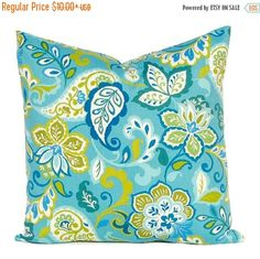 30% Off Sale Teal Pillows Green Pillow Covers Decorative