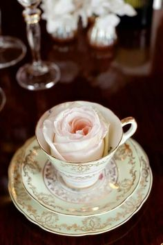 Pretty little teacup and saucer.