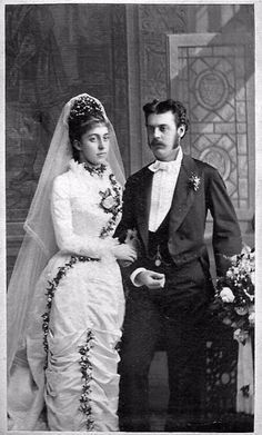 Photo of Just-Married Couple from the 19th Century
