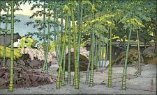Yoshida Toshi -Bamboo Garden,Hakone Museum - Japanese Woodblock Print