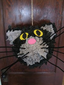 It's all about the cats!: Cat pinata, before and after