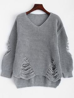 SHARE & Get it FREE | Loose Pullover Distressed SweaterFor Fashion Lovers only:80,000+ Items • New Arrivals Daily Join Zaful: Get YOUR $50 NOW!