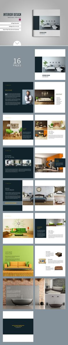 Square Brochure / Catalogs by tujuhbenua on @creativemarket More