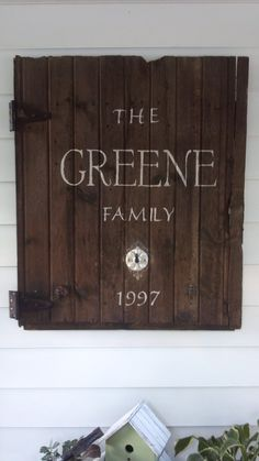 Great idea for displaying Josh's  grandads barn door in our living room. Very rustic, sentimental.